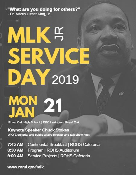 2019 MLK SERVICE Day Poster