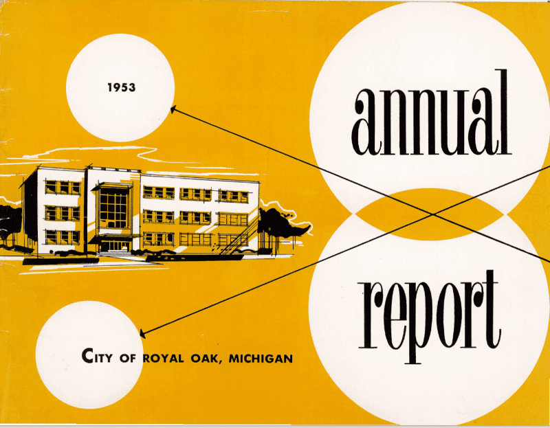 1953 Annual Report Cover